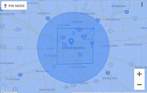 Campus Geotargeting Higher Ed Success Map Example